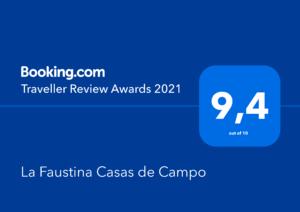 La Faustina Booking Traveller Review Award 2021